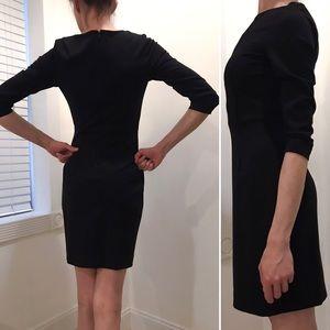 Uniqlo Black Ponte 3/4 Sleeve Sheath Work Dress XS